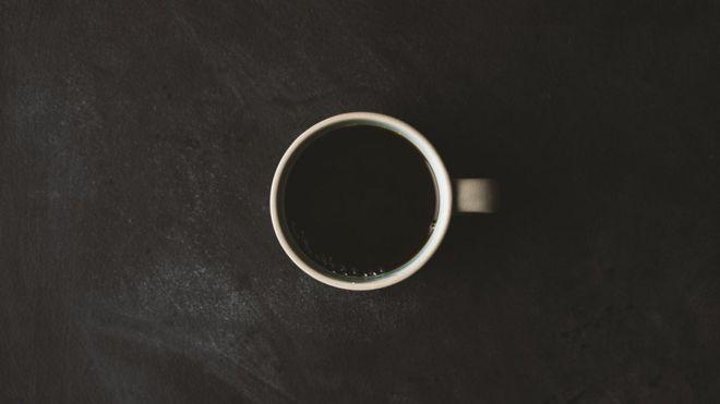 Xícara de café vista de cima