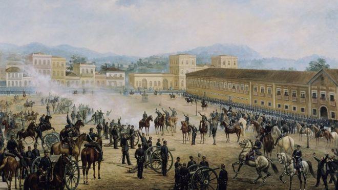 O quadro 'Proclamação da República', de Benedito Calixto