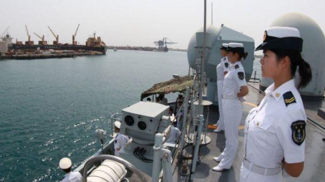 Un bâtiment de la marine chinoise qui avait visité Djibouti en 2015