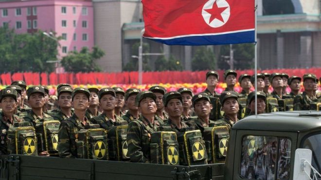 رژه در کره شمالی