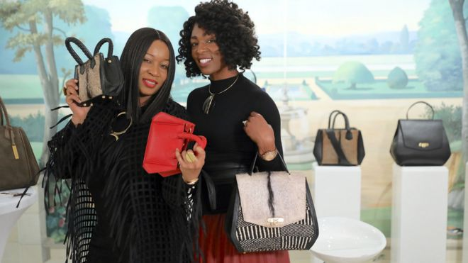 Branding consultant, Uche Pezard (left) and bag designer Aprelle Duany (Right)