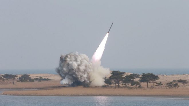 Image result for N.Korea fires ballistic missile into Japanese waters