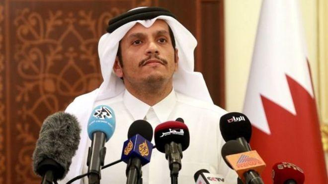 وزير الخارجية القطري الشيح محمد بن عبد الرحمن آل ثاني