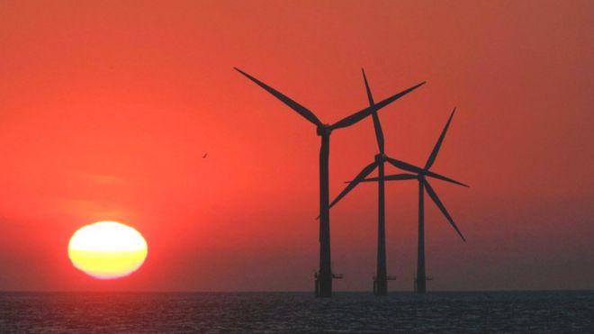 turbinas eólicas marinas.