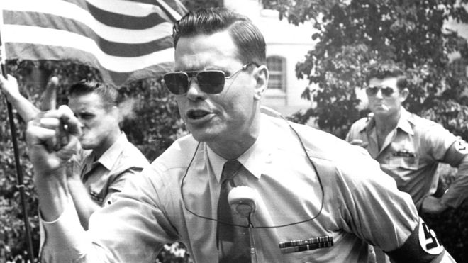 George Lincoln Rockwell, el fundador del Partido Nazi de EE.UU.