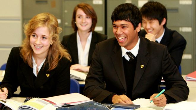 Sixth formers at WCGS