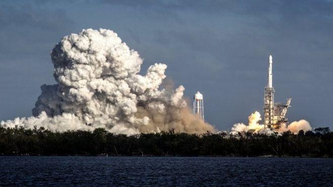 قوی ترین موشک شرکت اسپیس اکس راهی فضا شد - جاناتان آموس خبرنگار علمی بی بی سی