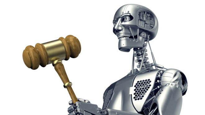 Ilustração de juiz-robô
