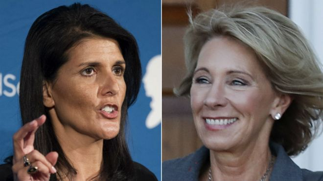 Trump picks Nikki Haley and Betsy DeVos as first women for cabinet ...