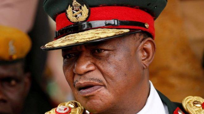 Former Gen Chiwenga at Mr Mnangagwa's inauguration - 24 November