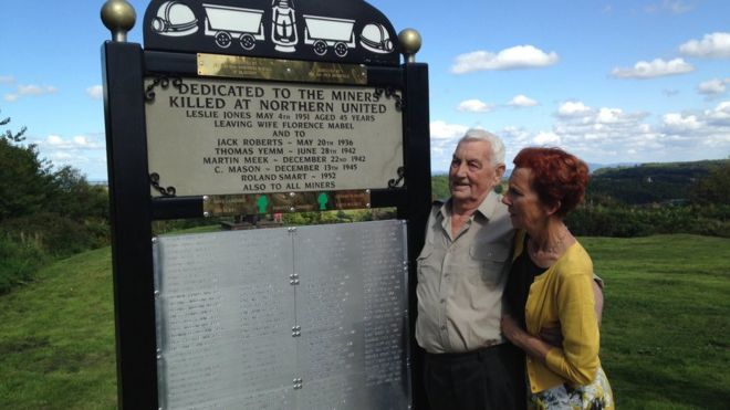 Ernie Hughes and Baroness Royall at the memorial