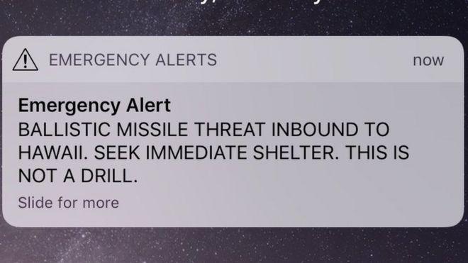 Un mensaje de alerta enviado por celular