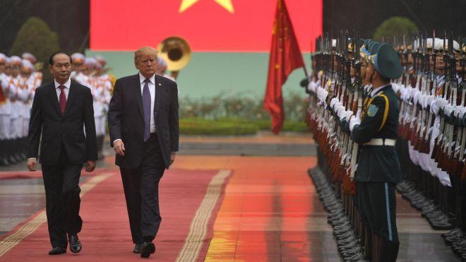 President Trump in Vietnam