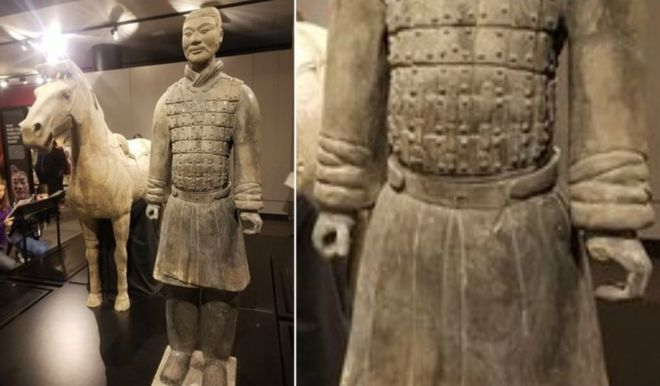 According to court documents, Mr Rohana, 24, was attending an Ugly Sweater Party at the Franklin Institute on 21 December when he made his way into the Terracotta Warriors exhibit, which was then closed.  Mr Rohana allegedly used a mobile phone as a torch and took a selfie with one of the warriors, according to Chinese state media Xinhua, quoting the FBI.  He then allegedly put his hand on the left hand of the statue and appeared to break something off from it. He pocketed the item and left.