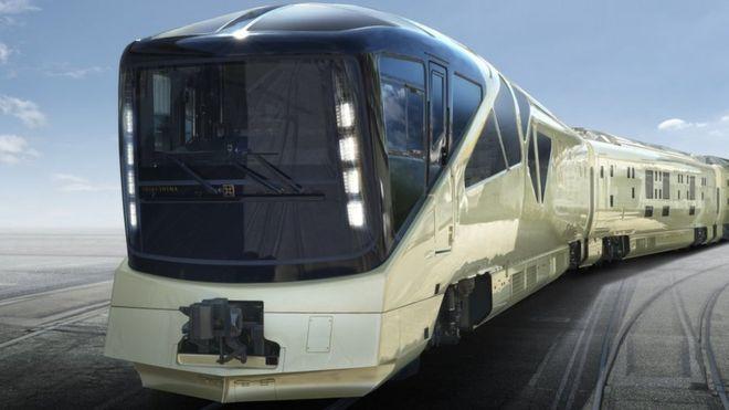 O trem de luxo Shiki-shima