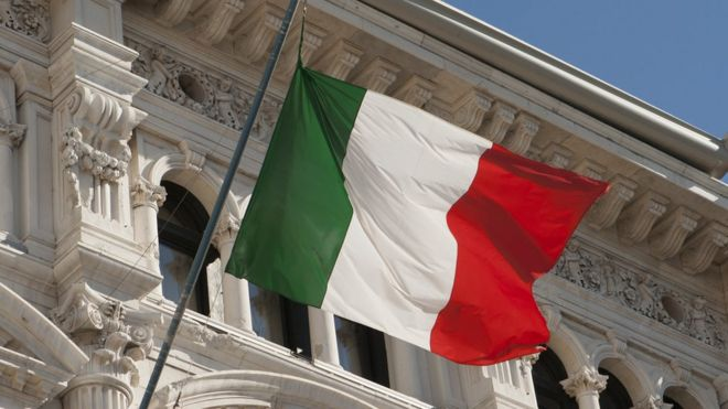 Bandeira italiana em Trieste