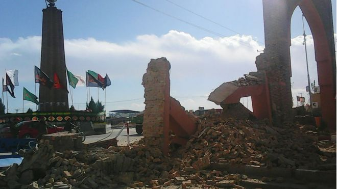 Quake damage in Ghazni, Afghanistan. 26 Oct 2015