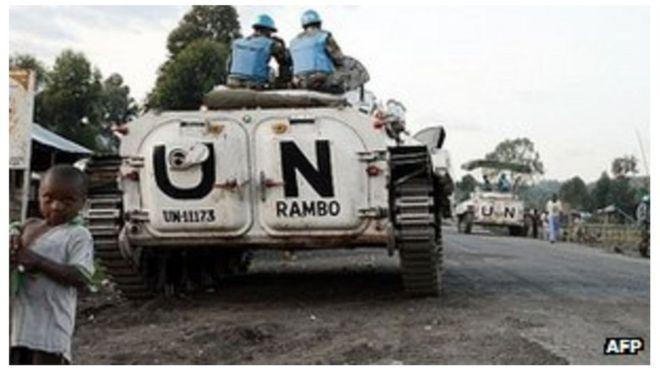 Vikosi vya Umoja wa Mataifa vikilinda amani DRC