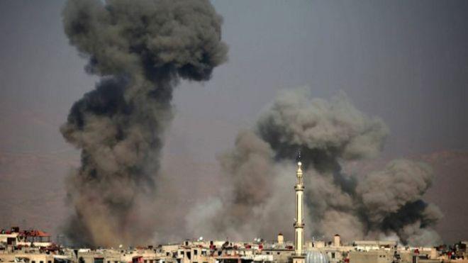 Mashambulizi ya anga Syria