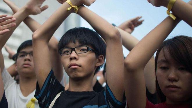 Joshua Wong tổ chức biểu tình qui mô lớn