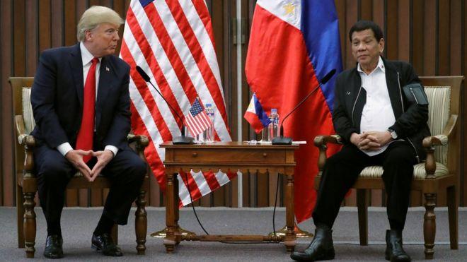 Дональд Трамп и Родриго Дутерте