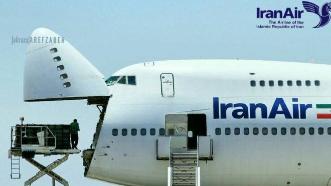 Iran Air posted a tweet of a shipment being loaded at Shiraz airport