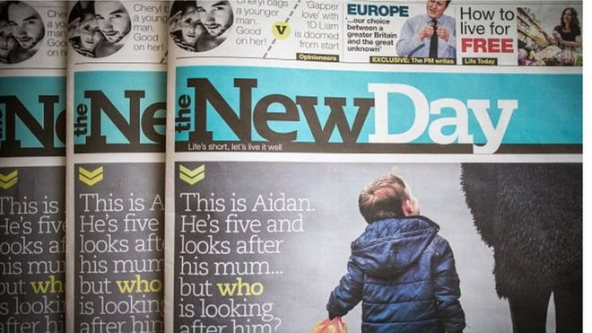 Image result for the new day newspaper