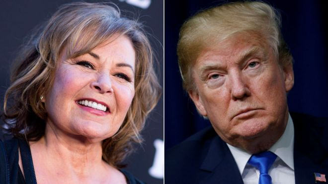 Roseanne Barr and President Trump