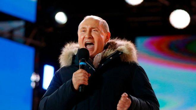 Rusya seçimleri: Putin oyların yüzde 76'sını aldı, Batı sessiz