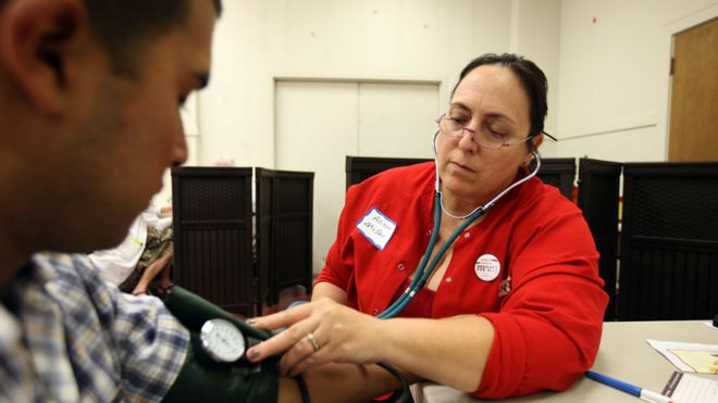 Blood pressure test in LA