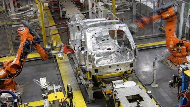 JLR assembly line