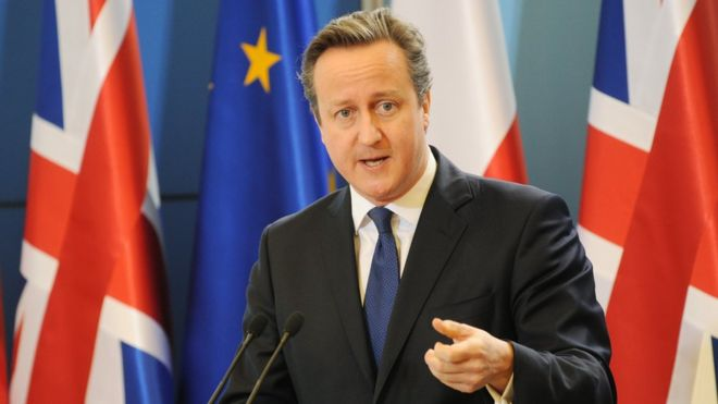 David Cameron in Warsaw on 10 December