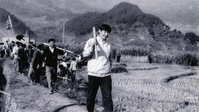 1989年12月2日,時任中共寧德地委書記的習近平帶領幹部勞動。
