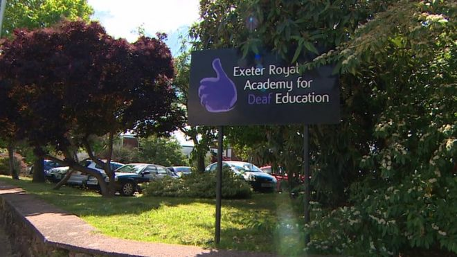 Exeter Royal Academy for Deaf Education sign