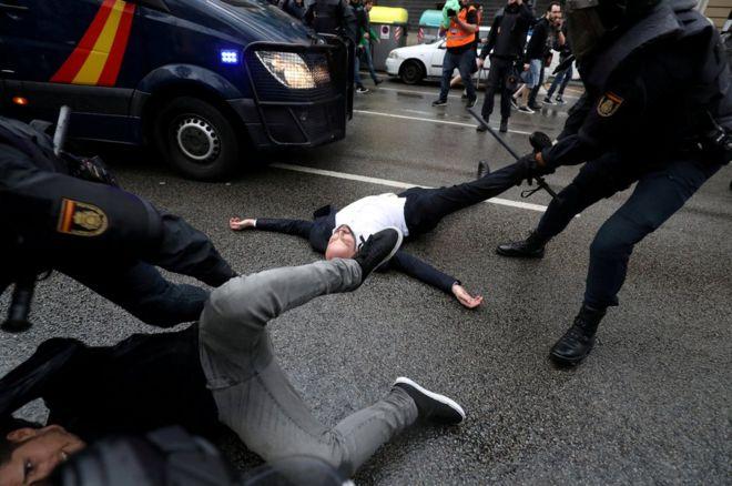 درگیریهای رفراندوم استقلال کاتالونیا