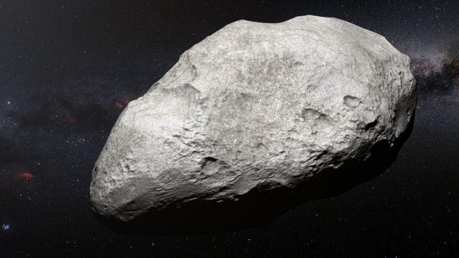 Ilustração de um asteróide
