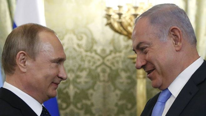 Image result for putin and netanyahu
