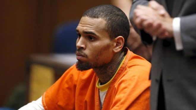 Chris Brown in court in Los Angeles, March 2014