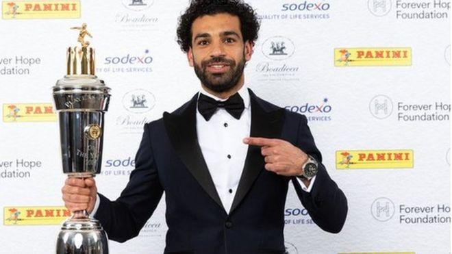 İngiltere'de Yılın Futbolcusu Liverpool'un Mısırlı forveti Muhammed Salah