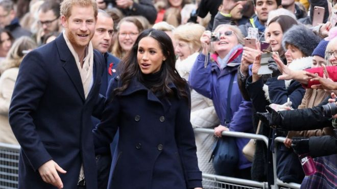 Meghan and Harry in Nottingham