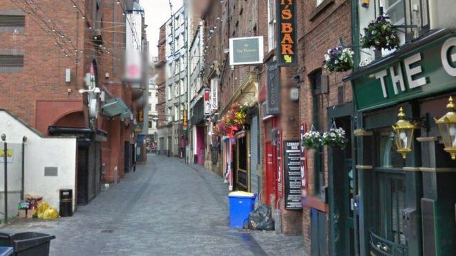 Mathew Street in Liverpool