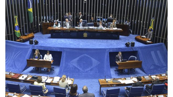 Senado durante julgamento do impeachment