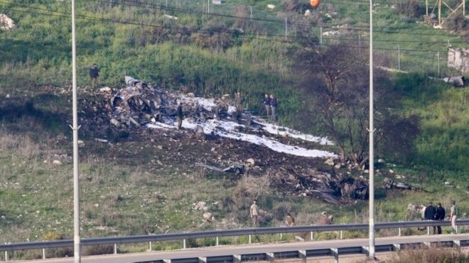Avião derrubado de Israel
