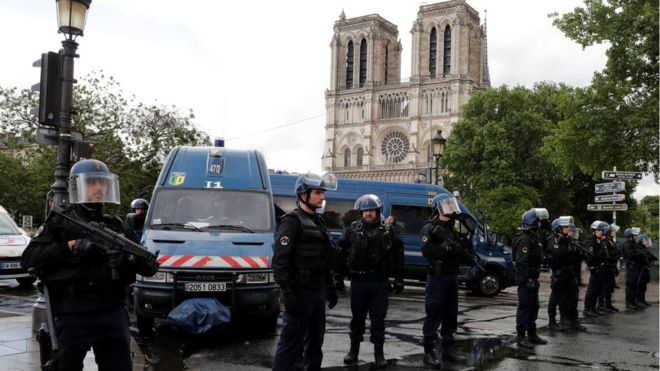 Paris's Notre Dame Attacker shot