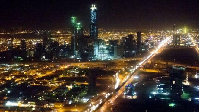 Vista aérea del aeropuerto de Riad.