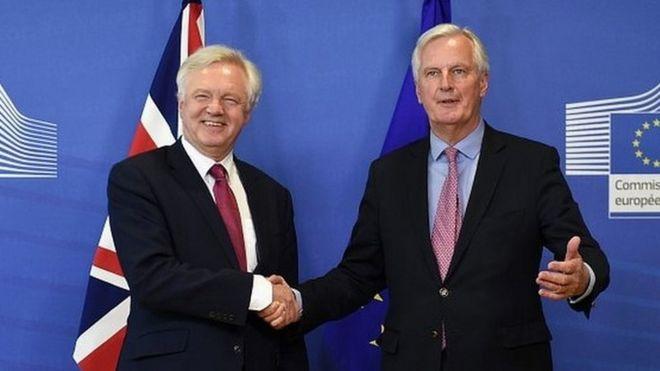 David Davis and Michel Barnier