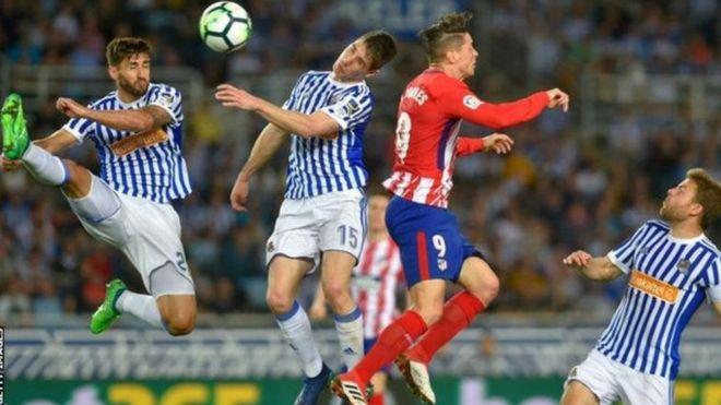 Atletico Madrid ilicharazwa 3-0 na Real Sociedad