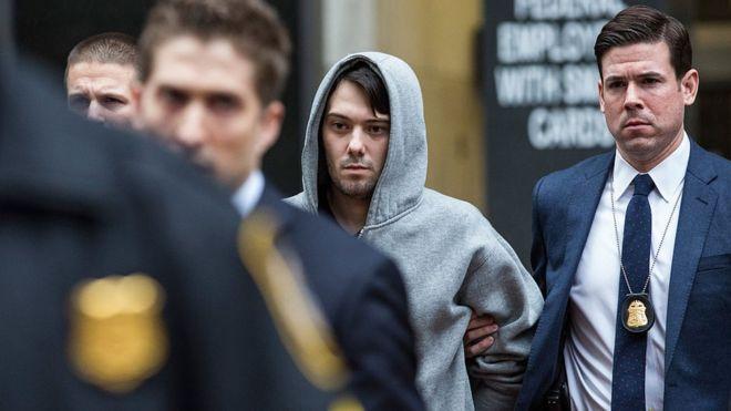 Martin Shkreli arrestado por la policía