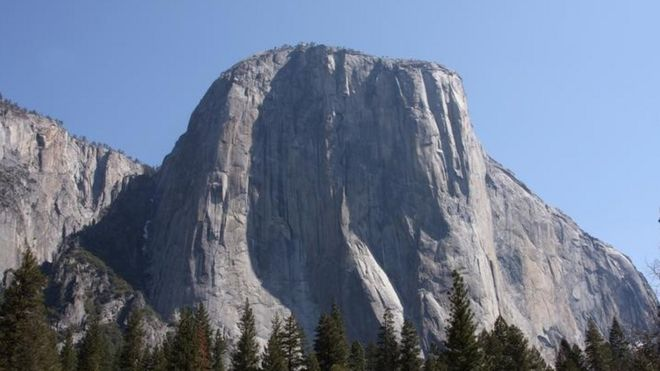 The south-west face of the 3,000ft granite monolith El Capitan (File picture)