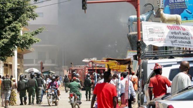 Guinée : le marché Madina parti en fumée